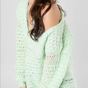 New w/out tags Free People sweater Light Green S
